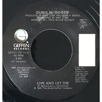 45 Purse - 80s Rock F-K - Guns N Roses Live And Let Die