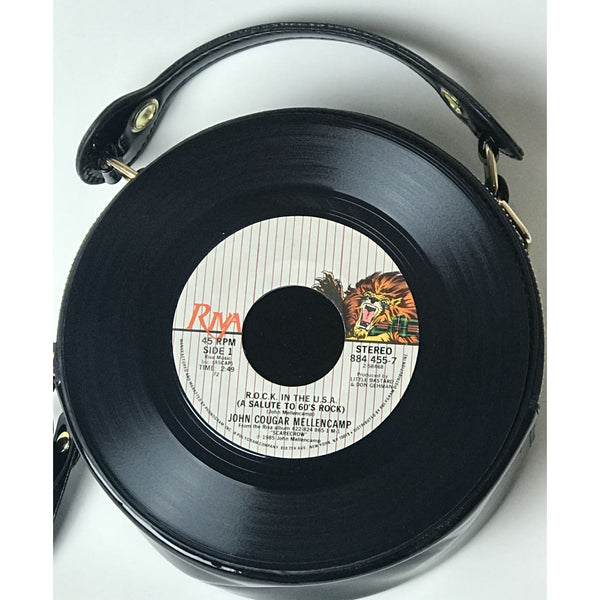 45 Purse - 80s Rock L-Q - John Mellencamp R.O.C.K. In The U.S.A.