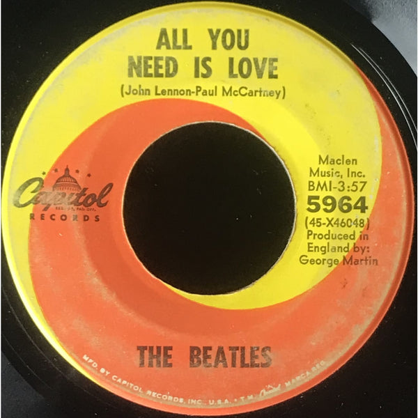 45 Purse - Beatles - The Beatles All You Need Is Love