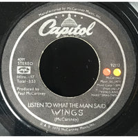 45 Purse - Beatles - Wings Listen To What The Man Said