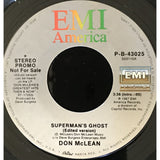 45 Purse - Special Records - Don McLean Supermans Ghost Promo