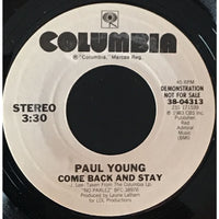 45 Purse - Special Records - Paul Young Come Back And Stay Demo