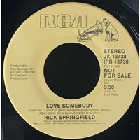 45 Purse - Special Records - Rick Springfield Love Somebody Promo