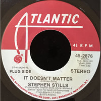 45 Purse - Special Records - Stephen Stills It Doesnt Matter Promo