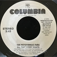 45 Purse - Special Records - The Psychedelic Furs All That Money Wants Demo