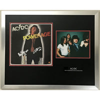 AC/DC album collage signed by Angus and Malcolm Young w/JSA LOA - Music Memorabilia