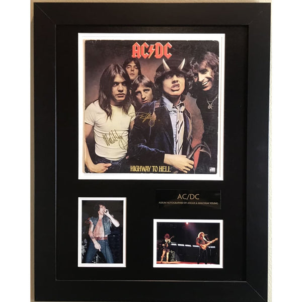 Ac/dc Album Signed By Angus And Malcolm Young W/jsa Loa