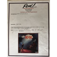 AC/DC Let There Be Rock album signed by Angus Young w/PSA COA - Music Memorabilia Collage