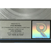 AC/DC Let There Be Rock Platinum Album Award