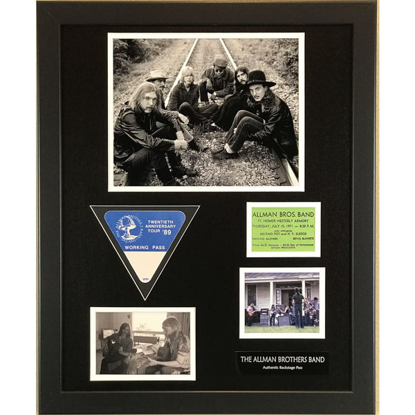 Allman Brothers Band Memorabilia Collage
