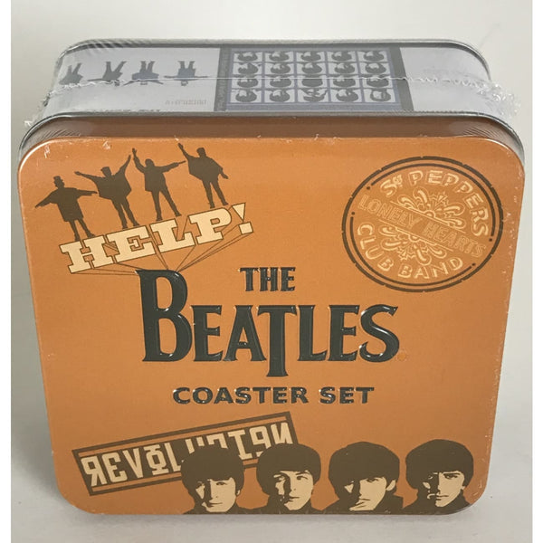 Beatles 10 pc Coasters Set - New In Box - Music Memorabilia