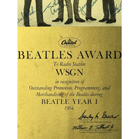 Beatles 1964 Capitol Records Radio Award - RARE - Record Award
