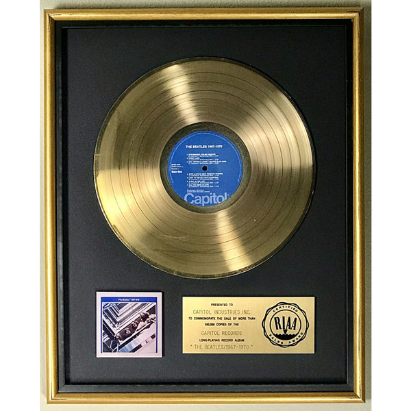 Beatles 1967-1970 RIAA Gold LP Award