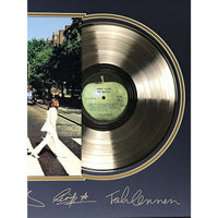 Beatles Abbey Road Gold Record Collage