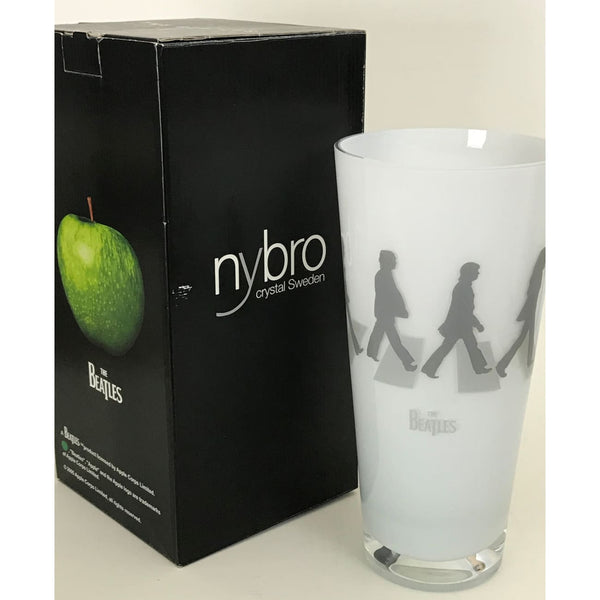 Beatles Abbey Road Nybro Crystal Vase - New In Box - Music Memorabilia