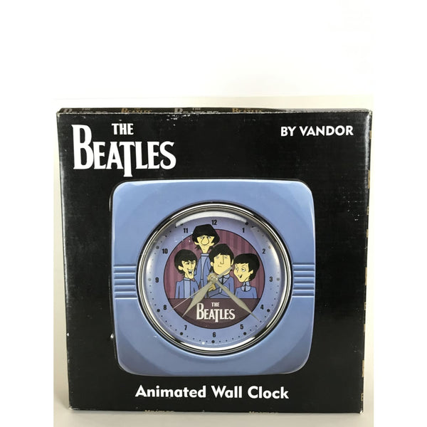 Beatles Animated Cartoon Wall Clock - New In Box - Music Memorabilia