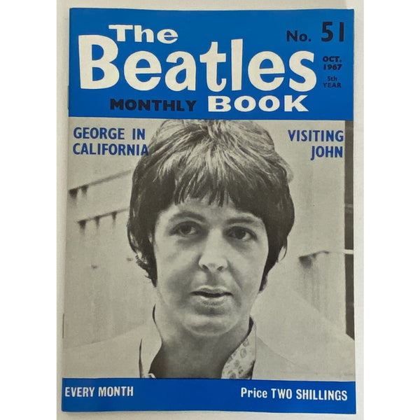 Beatles Book Monthly Magazine Oct 1967 Issue #51 - RARE - Music Memorabilia