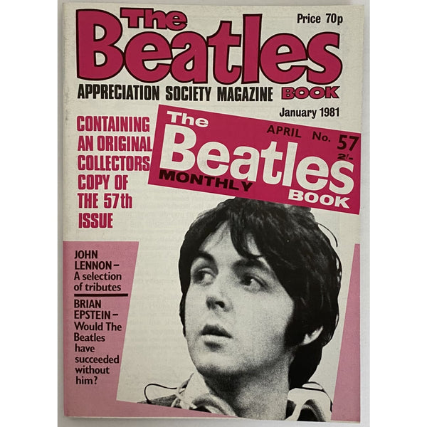 Beatles Book Monthly Magazines 1981 Issues - Original - sold individually - JAN 1981/Excellent - Music Memorabilia
