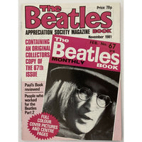 Beatles Book Monthly Magazines 1981 Issues - Original - sold individually - NOV 1981/Excellent - Music Memorabilia