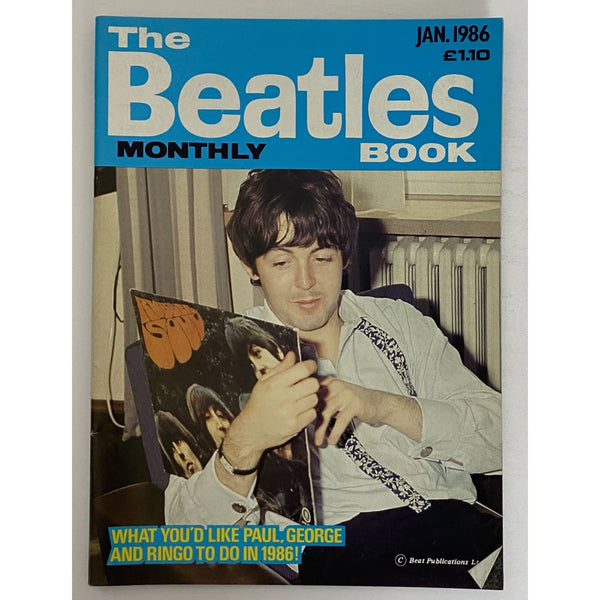 Beatles Book Monthly Magazines 1986 Issues - original 3rd era - sold individually - JAN 1986/Excellent - Music Memorabilia