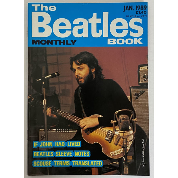 Beatles Book Monthly Magazines 1989 Issues - original 3rd era - sold individually - JAN 1989/Excellent - Music Memorabilia