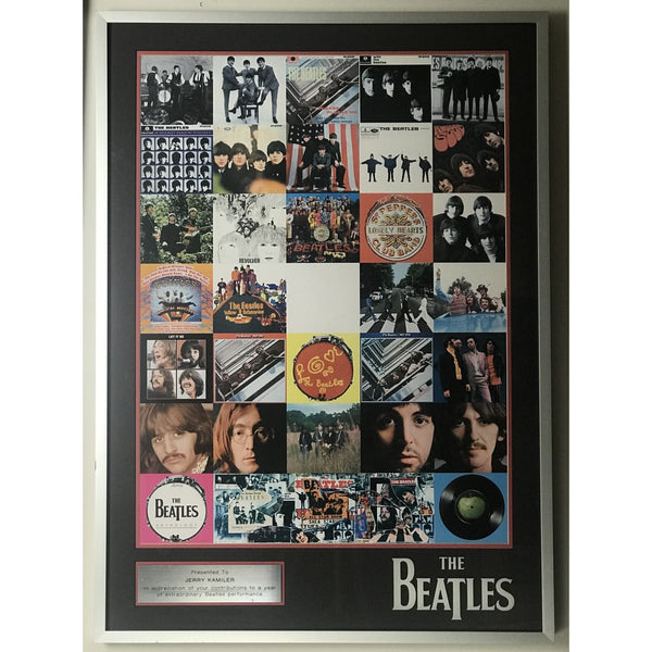 Beatles Capitol Multi-Album Promo Poster - Framed