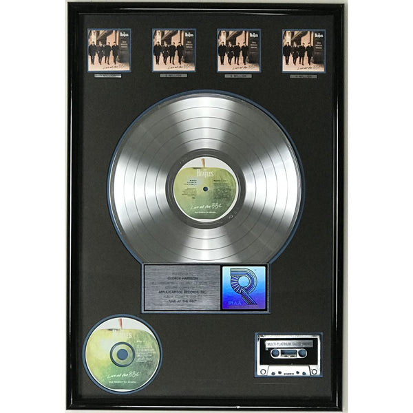 Beatles Live At The BBC RIAA 4x Platinum LP Award presented to George Harrison - RARE - Record Award