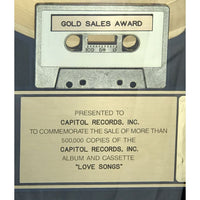 Beatles Love Songs RIAA Gold LP Award Presented to Capitol Records Inc.
