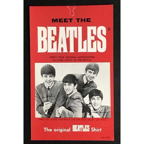 Beatles original 1964 shirt tag