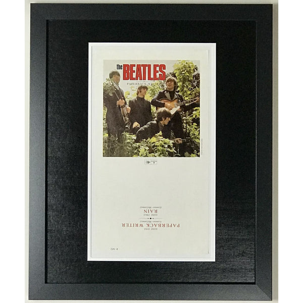 Beatles Paperback Writer 45 Sleeve Art Proof - RARE - Music Memorabilia Collage