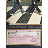 Beatles Signed Checks Montage Collectible