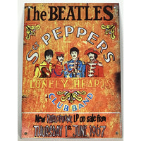Beatles Vintage Sgt Pepper Metal Decor Plaque - Music Memorabilia