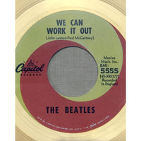 Beatles We Can Work It Out White Matte RIAA Gold 45 Award - RARE