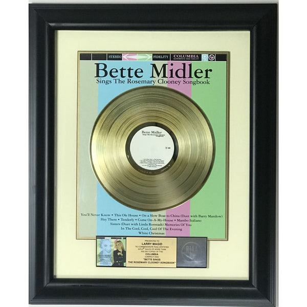 Bette Midler Bette Sings The Rosemary Clooney Songbook RIAA Gold Award