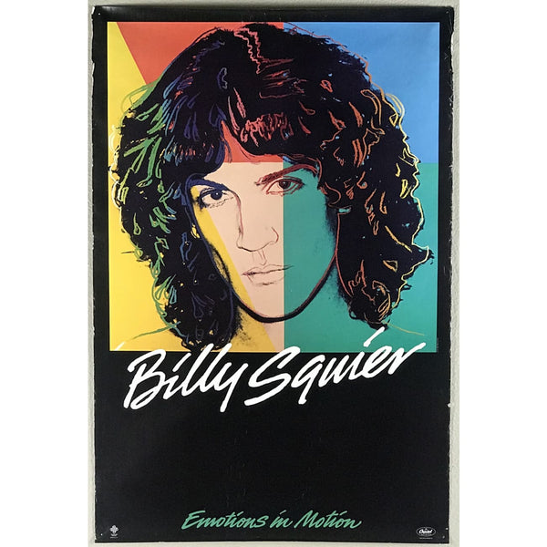 Billy Squier Original 1982 Warhol Designed Promo Poster