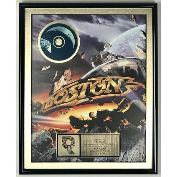 Boston Walk On RIAA Gold Album Award