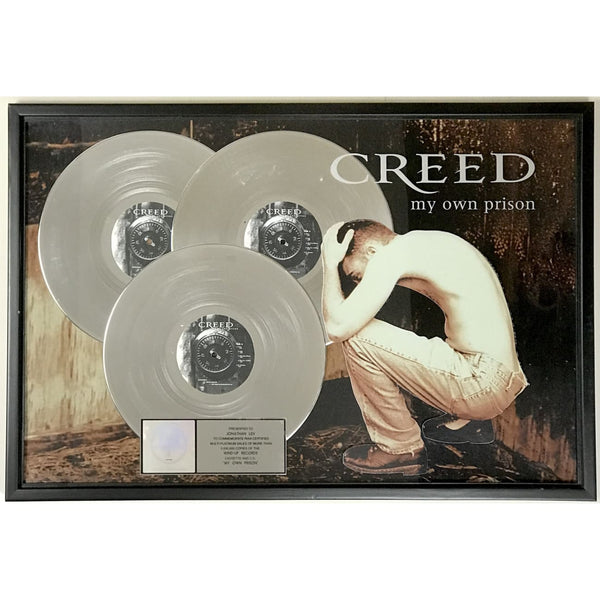 Creed My Own Prison RIAA 3x Multi-Platinum Award - Record Award