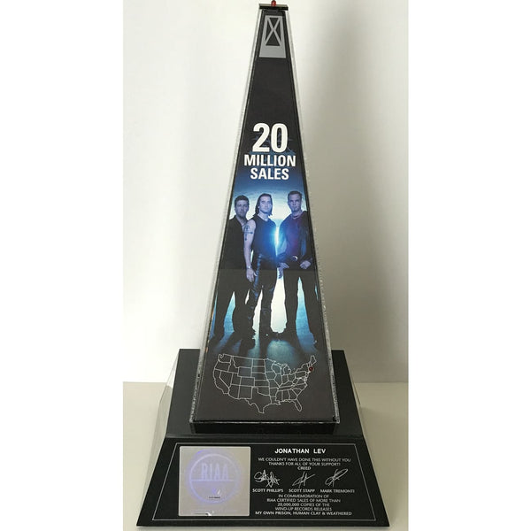 Creed RIAA 20x Platinum Light Up Award - RARE - Record Award