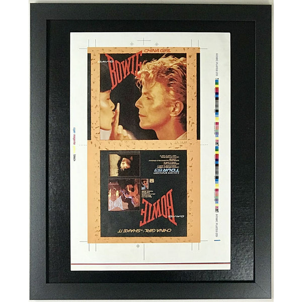 David Bowie China Girl 45 Sleeve Art Proof - RARE - Music Memorabilia Collage