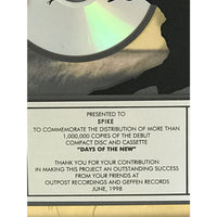 Days Of The New Yellow label award - Record Award