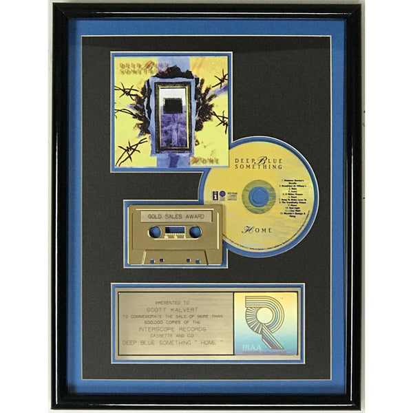 Deep Blue Something Home RIAA Gold Album Award - Record Award
