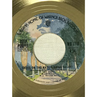 Deep Purple Smoke On The Water White Matte RIAA Gold 45 Award presented to Ritchie Blackmore - RARE - Record Award