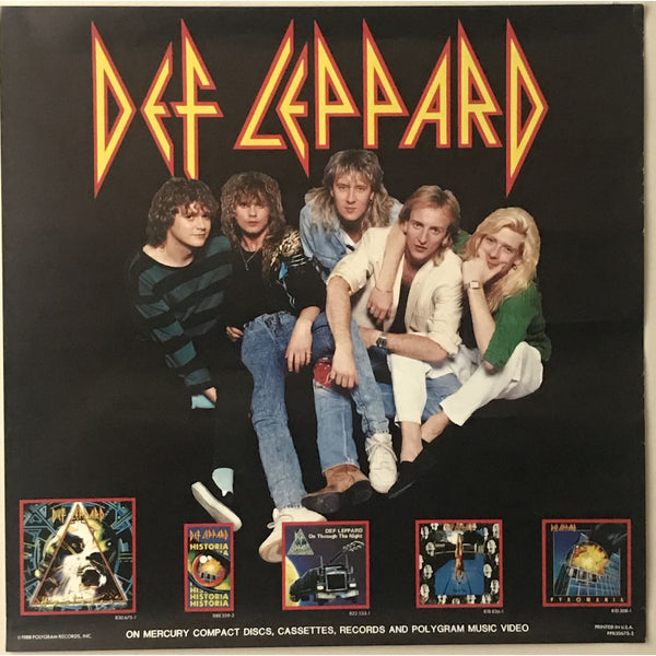 Def Leppard Hysteria 1988 Promo Poster