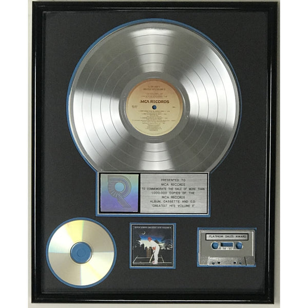 Elton John Greatest Hits Vol II RIAA Platinum Album Award - Record Award