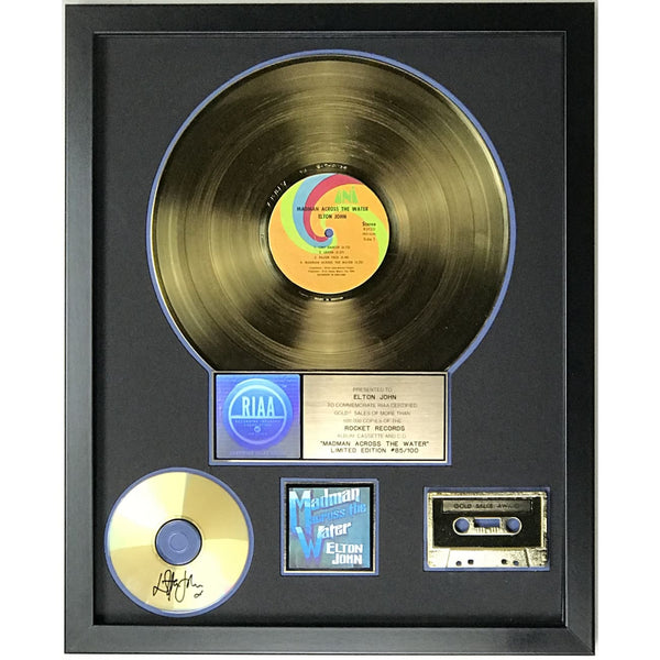 Elton John Madman Across The Water RIAA Gold Album Award presented to and signed by Elton John - RARE #85/100 - Record Award