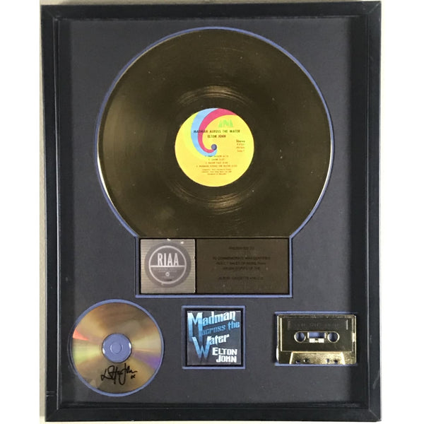 Elton John Madman Across The Water RIAA Gold Album Award presented to and signed by Elton John - RARE #95/100