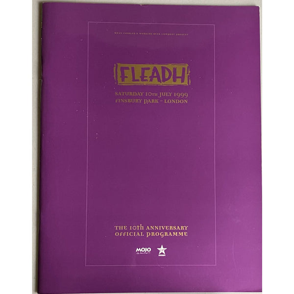 Fleadh 1999 10th Anniversary Tour Program - Music Memorabilia
