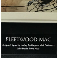 Fleetwood Mac Lithograph Signed by Buckingham Fleetwood J McVie Nicks w/BAS LOA - RARE - Poster