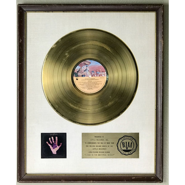 George Harrison Living In The Material World White Matte RIAA Gold LP Award - RARE