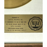 George Harrison Living In The Material World White Matte RIAA Gold LP Award to Capitol Records - RARE